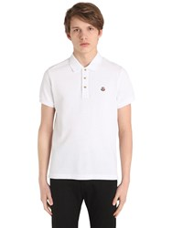 Moncler Logo Detail Cotton Pique Polo Shirt