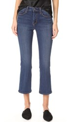 L'agence Serena Crop Baby Flare Jeans Azul