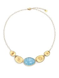 Marco Bicego Lunaria Aquamarine And 18K Yellow Gold Necklace