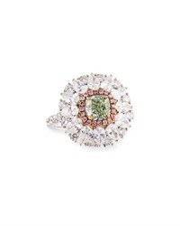 Alexander Laut Light Green Diamond Ring With Pink And White Diamonds