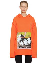 Ambush Oversized Cotton Sweatshirt Orange