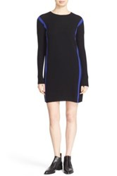 Autumn Cashmere Stripe Sheath Dress Black