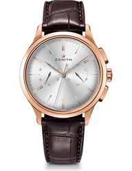 Zenith 18.2270.4069 01.C498 El Primero Elite Rose Gold And Alligator Leather Watch Sapphire