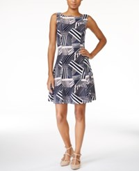 Maison Jules Printed Fit And Flare Dress Only At Macy's Pearl Blush Combo