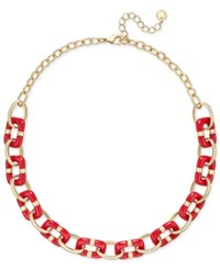 Charter Club Colored Link Statement Necklace Only At Macy's