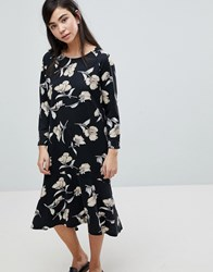Soaked In Luxury Floral Print Sweater Dress Multi