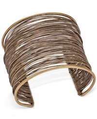 Inc International Concepts Gold Tone Wire Wrapped Cuff Bracelet Only At Macy's