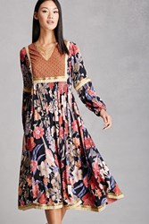 Forever 21 Rd And Koko Floral Maxi Dress Gold Multi