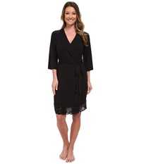 P.J. Salvage Rayon Basic Robe Black Women's Robe