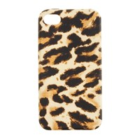 J.Crew Printed Case For Iphone 4 4S Camel Brown