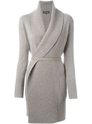 Loro Piana Belted Cardi Coat Nude And Neutrals