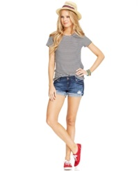 Celebrity Pink Jeans Juniors' Cuffed Denim Shorts 3' Inseam Runaway Medium