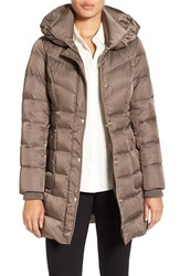 Kenneth Cole Women's New York Hooded Down Coat Thistle