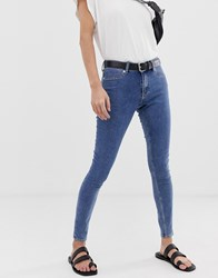 Cheap Monday Mid Spray Skinny Jeans Blue