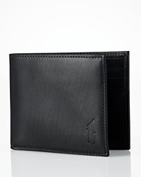 Polo Ralph Lauren Burnished Leather Passcase Wallet Black