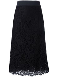 Dolce And Gabbana Lace Tube Skirt Black