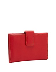 Tusk Slim Leather Indexer Wallet Red