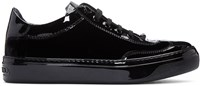 Jimmy Choo Black Velvet And Leather Ace Sneakers