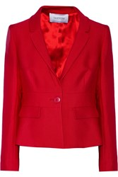 Valentino Textured Wool And Silk Blend Blazer