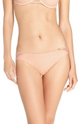 Chantelle Women's Intimates 'Festive' Bikini Briefs Nude Blush