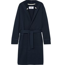 Reigning Champ Loopback Cotton Jersey Robe Navy