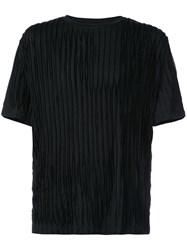 Private Stock Short Sleeve Textured T Shirt Black