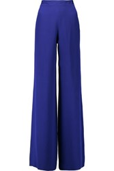 Emilio Pucci Silk Wide Leg Pants Cobalt Blue