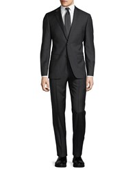 Dkny Solid Wool Two Piece Suit Black