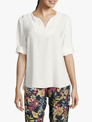 Betty And Co. V Neck Blouse Off White