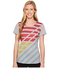 Brooks Distance Short Sleeve Heather Sterling Multi Track Women's Workout
