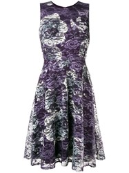 Dkny Short Lace Dress Pink And Purple