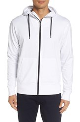 Good Man Brand Men's Microlight French Terry Hoodie White