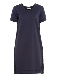 Moncler Broderie Anglaise Cotton Panelled Dress