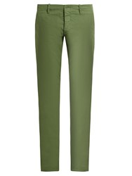 Tomas Maier Slim Fit Cotton Trousers Khaki