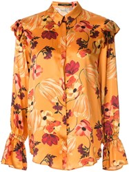 Mother Of Pearl Floral Print Ruffle Detail Blouse Multicolour