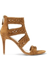 Sandro Agate Woven Suede Sandals Fr38