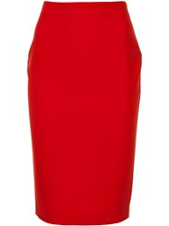 Likely Pencil Skirt Red