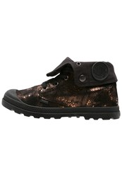 Palladium Baggy Laceup Boots Copper Metal Black