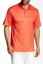 Cutter And Buck Marina Print Polo Orange