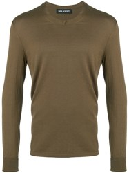 Neil Barrett Fine Knit Jumper Green