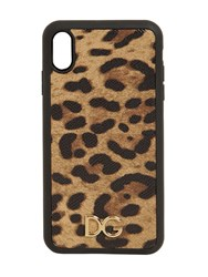 Dolce And Gabbana Leopard Print Leather Iphone X Max Case