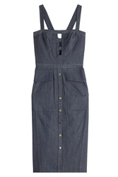 Tamara Mellon Denim Dress With Cut Out Detail Blue