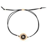 Ted Baker Ellysia Large Button Cord Bracelet Rose Gold Black Rose Gold Black