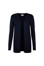 People Tree Leah Longline Cardigan In Navy