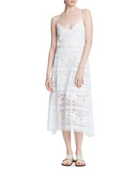 Tracy Reese Lace Slip Dress White