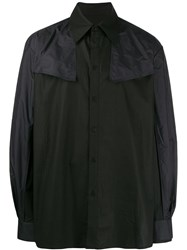 D.Gnak Panelled Western Shirt Black