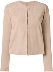 Drome Collarless Jacket Nude Neutrals
