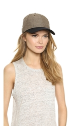 Rag And Bone Cotton Brim Baseball Cap Brown