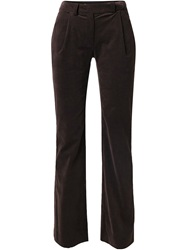 Emanuel Ungaro Vintage Velvet Straight Leg Trousers Brown