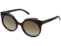 Marc Jacobs 105 S Red Havana Brown Shaded Bronze Lens Fashion Sunglasses